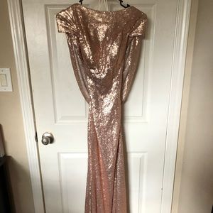 Champagne/Rose gold sequin Dress